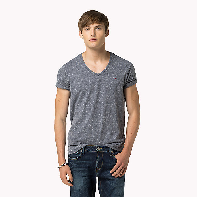 TOMMY JEANS Original V-Neck T-shirt - TOMMY BLACK - TOMMY JEANS Clothing - main image