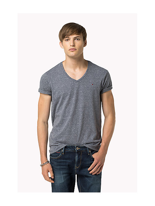 Original V-Neck T-shirt - BLACK IRIS - TOMMY JEANS Clothing - main image