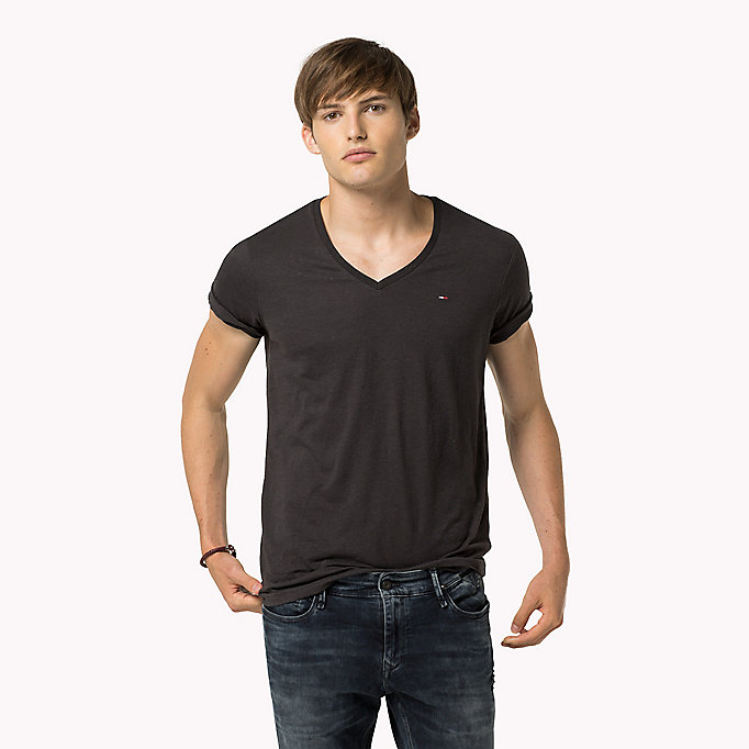 TOMMY JEANS Original V-Neck T-shirt - FORMULA ONE - TOMMY JEANS Clothing - main image