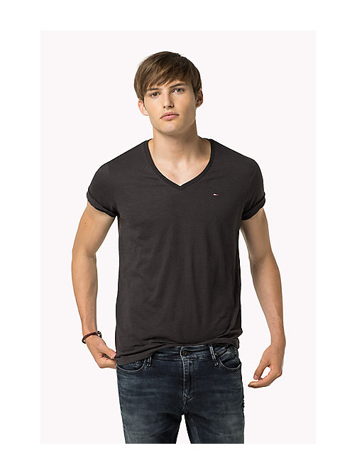 Original V-Neck T-shirt - TOMMY BLACK - TOMMY JEANS Clothing - main image