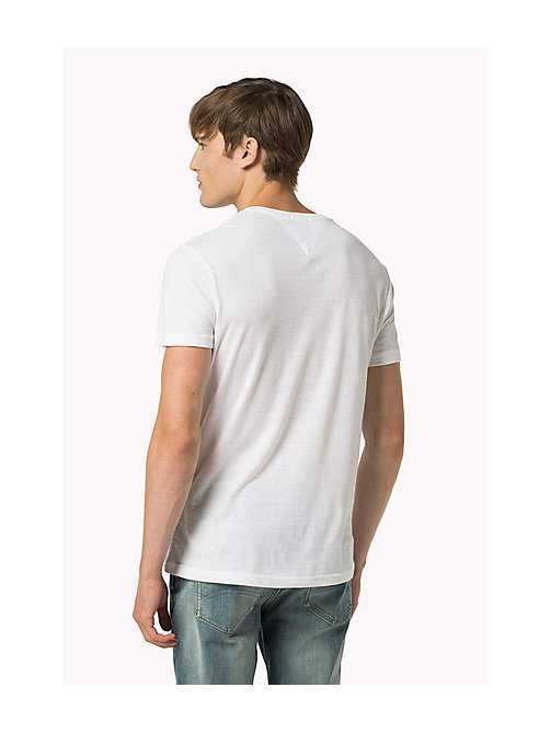 Original V-Neck T-shirt - CLASSIC WHITE - TOMMY JEANS Clothing - detail image 1