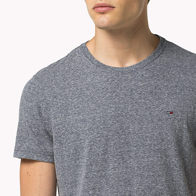 TOMMY JEANS Original Crew Neck T-shirt - TOMMY BLACK - TOMMY JEANS Clothing - detail image 2