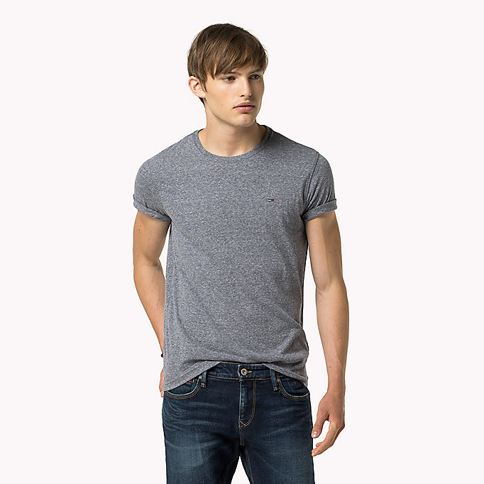 TOMMY JEANS Original Crew Neck T-shirt - TOMMY BLACK - TOMMY JEANS Men - main image