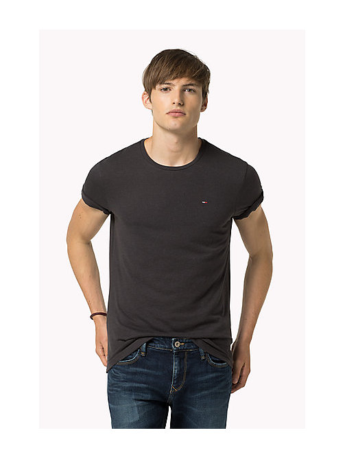 Original Crew Neck T-shirt - TOMMY BLACK - TOMMY JEANS Clothing - main image
