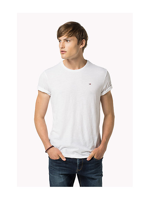 Original Crew Neck T-shirt - CLASSIC WHITE - TOMMY JEANS Clothing - main image