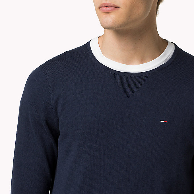 TOMMY JEANS Original Crew Neck Jumper - TOMMY BLACK - TOMMY JEANS Clothing - detail image 2