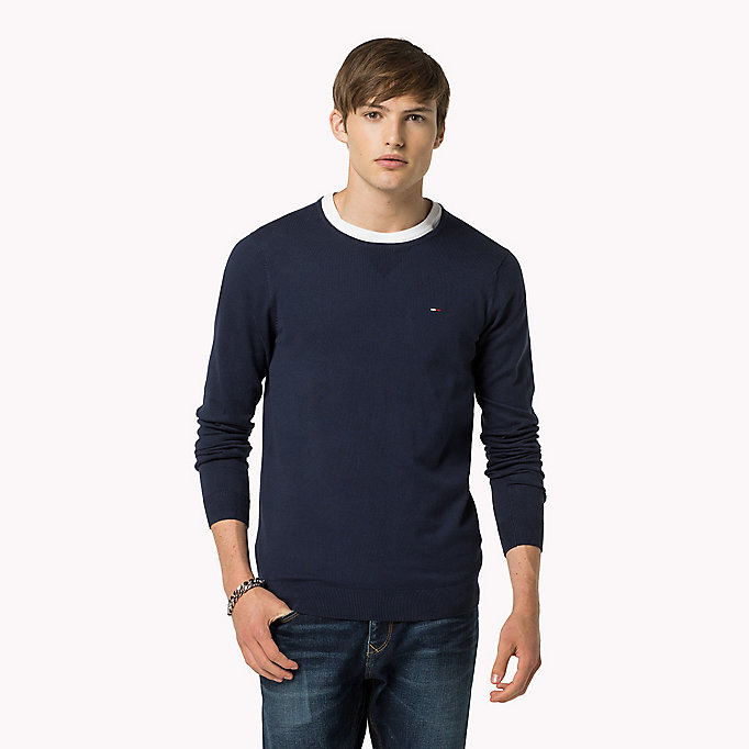 TOMMY JEANS Original Crew Neck Jumper - TOMMY BLACK - TOMMY JEANS Clothing - main image