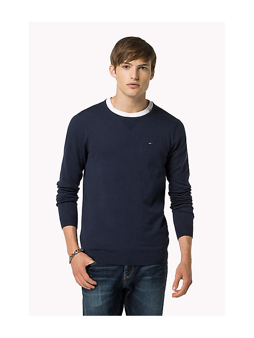 Original Crew Neck Jumper - BLACK IRIS - TOMMY JEANS Men - main image