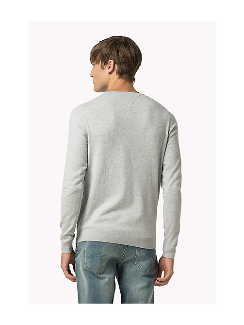 TOMMY JEANS Original Sweater mit Rundhalsausschnitt - LT GREY HTR - TOMMY JEANS Clothing - main image 1