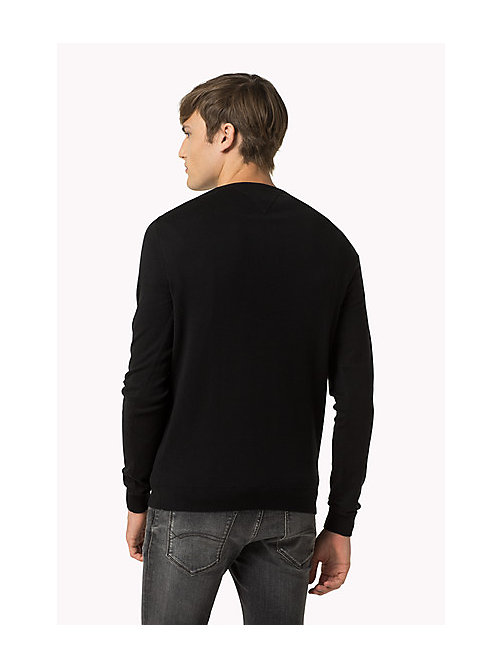 Original Crew Neck Jumper - TOMMY BLACK - TOMMY JEANS Clothing - detail image 1