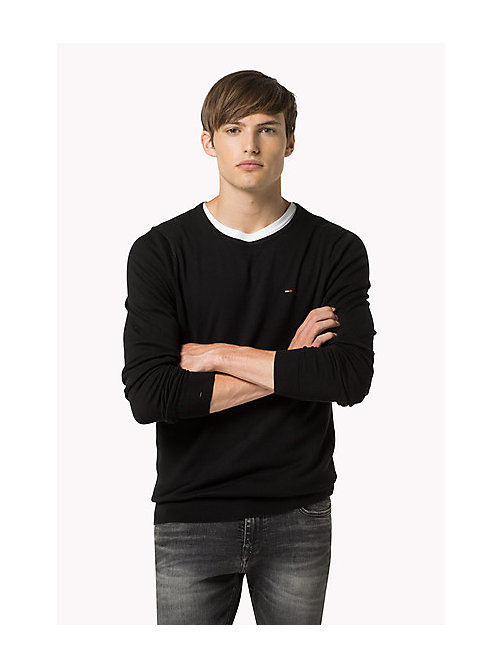 Original Crew Neck Jumper - TOMMY BLACK - TOMMY JEANS Clothing - main image