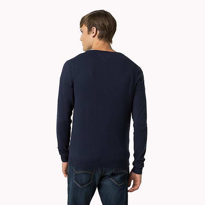 TOMMY JEANS Original Sweater mit V-Ausschnitt - TOMMY BLACK - TOMMY JEANS Kleidung - main image 1
