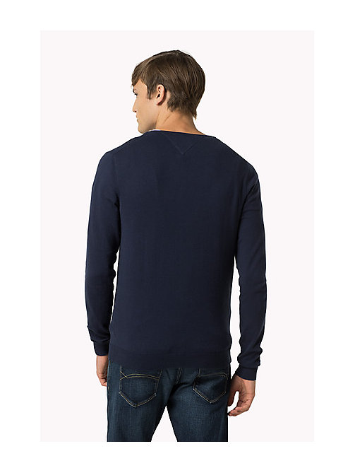 Original V-Neck Jumper - BLACK IRIS - TOMMY JEANS Men - detail image 1
