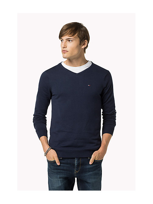Original V-Neck Jumper - BLACK IRIS - TOMMY JEANS Men - main image
