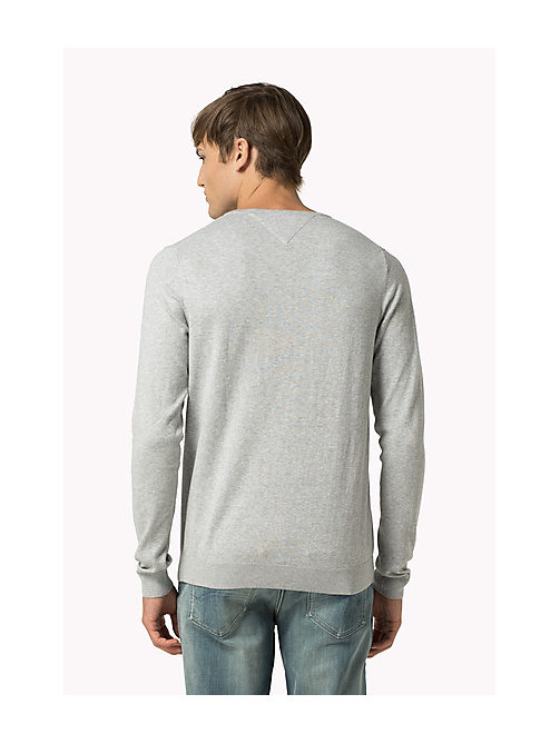 TOMMY JEANS Original Sweater mit V-Ausschnitt - LT GREY HTR - TOMMY JEANS Clothing - main image 1