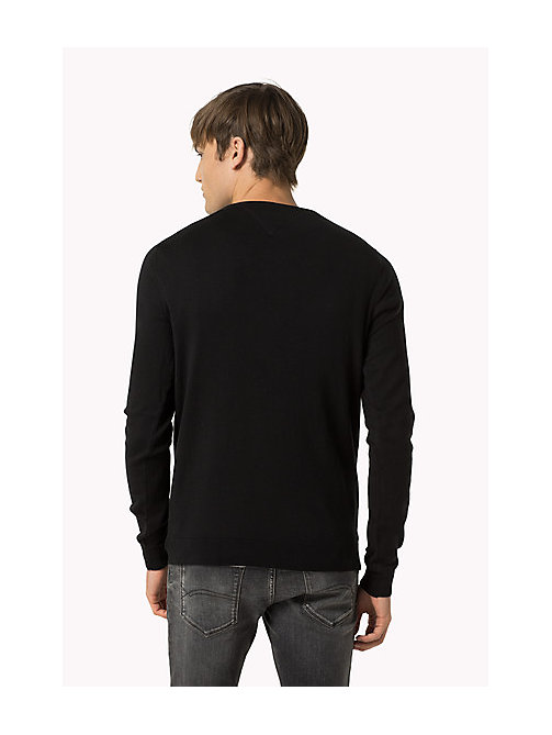 Original V-Neck Jumper - TOMMY BLACK - TOMMY JEANS Clothing - detail image 1