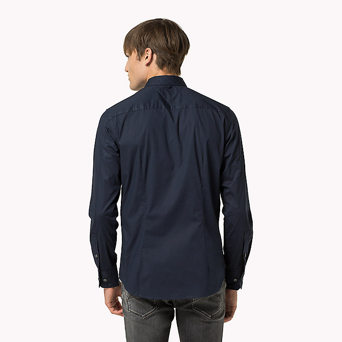 TOMMY JEANS Original Cotton Stretch Shirt - TOMMY BLACK - TOMMY JEANS Мужчины - подробное изображение 1