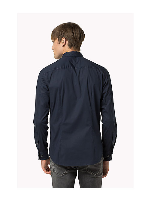 Original Cotton Stretch Shirt - BLACK IRIS - TOMMY JEANS Men - detail image 1