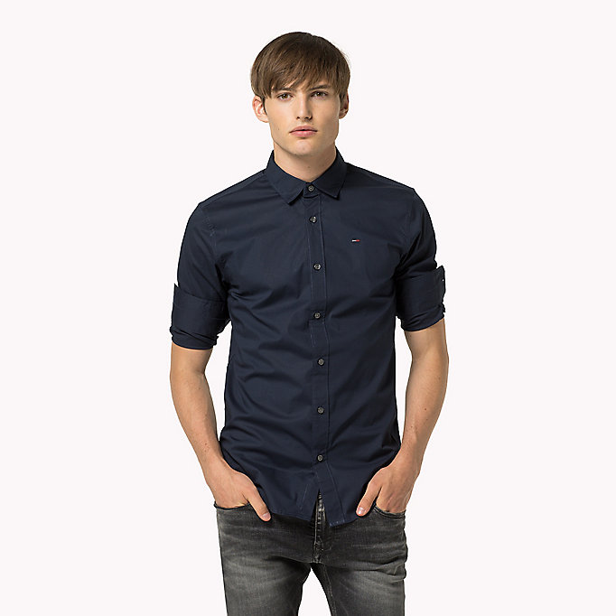 TOMMY JEANS Original Cotton Stretch Shirt - TOMMY BLACK - TOMMY JEANS Мужчины - главное изображение