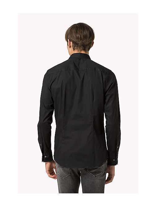 TOMMY JEANS Original Cotton Stretch Shirt - TOMMY BLACK - TOMMY JEANS Shirts - detail image 1