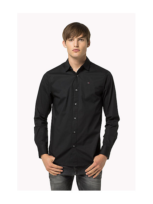 Original Cotton Stretch Shirt - TOMMY BLACK - TOMMY JEANS Clothing - main image