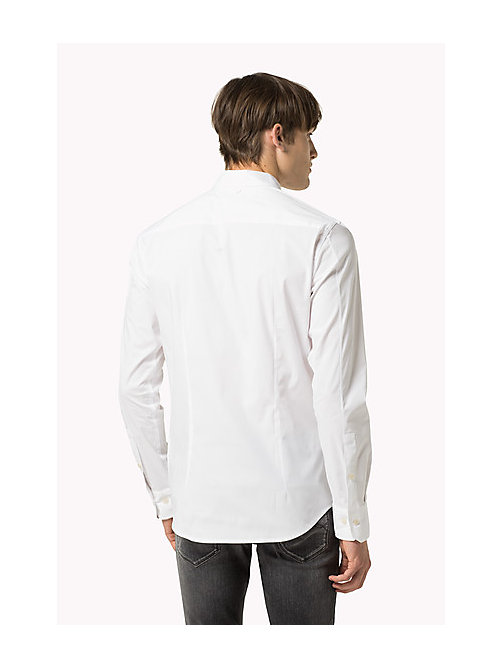 Original Cotton Stretch Shirt - CLASSIC WHITE - TOMMY JEANS Clothing - detail image 1