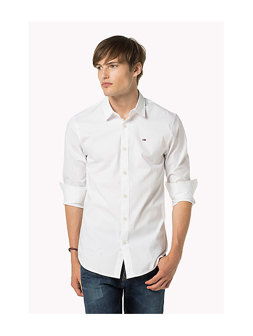 Original Cotton Stretch Shirt - CLASSIC WHITE - TOMMY JEANS Clothing - main image