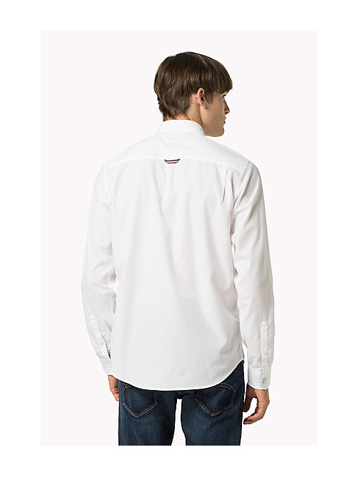TOMMY JEANS Original Cotton Shirt - CLASSIC WHITE - TOMMY JEANS Shirts - detail image 1