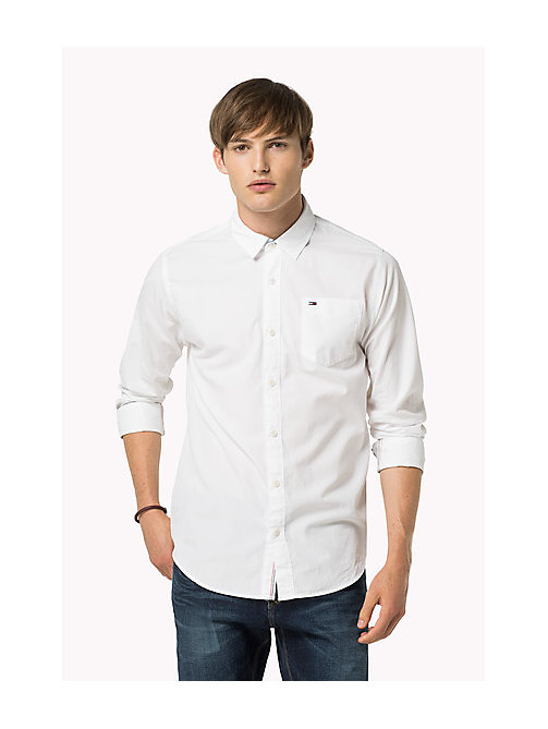 Original Cotton Shirt - CLASSIC WHITE - TOMMY JEANS Uomini - immagine principale