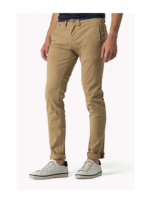 TOMMY JEANS Slim Fit Chinos - KELP - TOMMY JEANS Trousers - main image