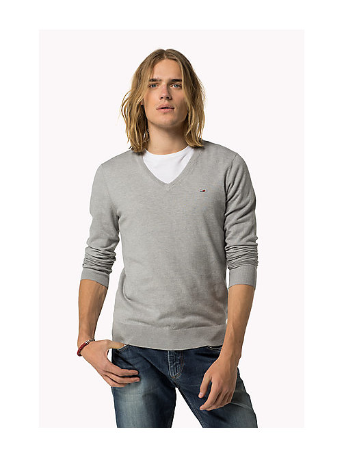 Original Jumper - LT GREY HTR - TOMMY JEANS Clothing - main image