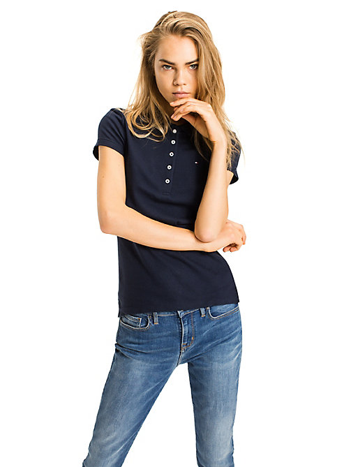 TOMMY HILFIGER Heritage Slim Fit Polo Shirt - CORE NAVY - TOMMY HILFIGER Basics - main image