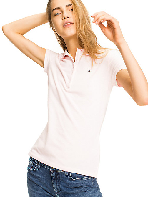 TOMMY HILFIGER Heritage Slim Fit Polo Shirt - BALLERINA - TOMMY HILFIGER Polo Shirts - main image