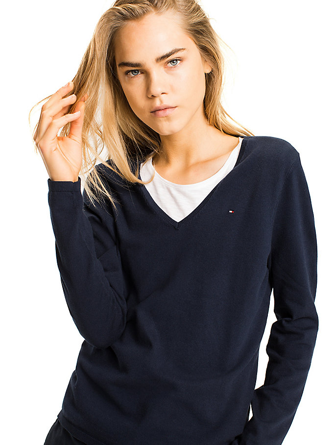 TOMMY HILFIGER Ivy Jumper - MIDNIGHT - TOMMY HILFIGER Clothing - detail image 2