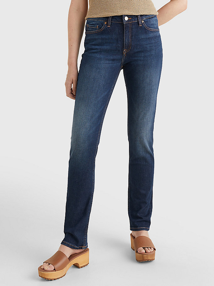denim rome heritage straight fit faded jeans for women tommy hilfiger