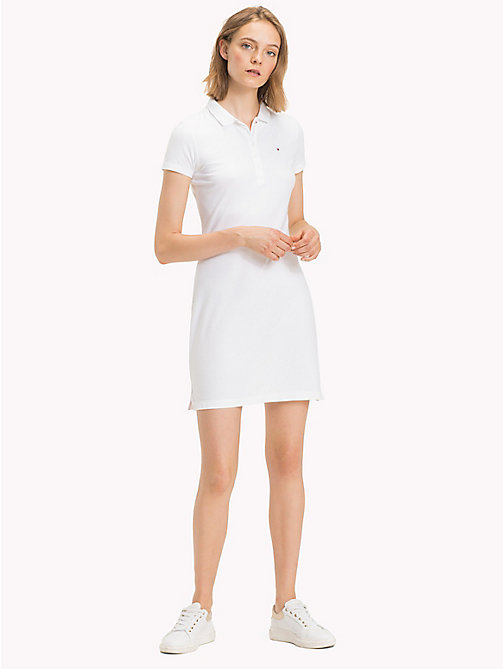 TOMMY HILFIGER Tropical Print Polo Dress - CLASSIC WHITE - TOMMY HILFIGER Dresses - main image