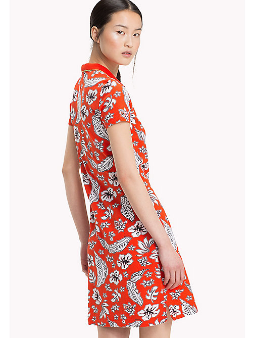 TOMMY HILFIGER Tropical Print Polo Dress - TROPICAL PRT / FIESTA - TOMMY HILFIGER Dresses - detail image 1