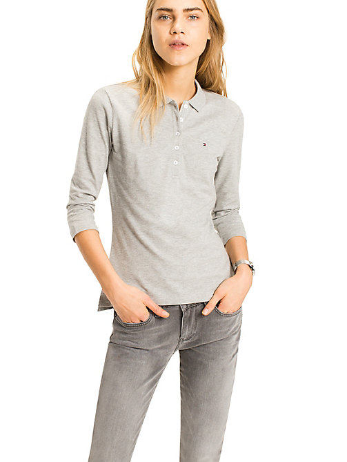 Chiara Polo - LIGHT GREY HTR - TOMMY HILFIGER Clothing - main image