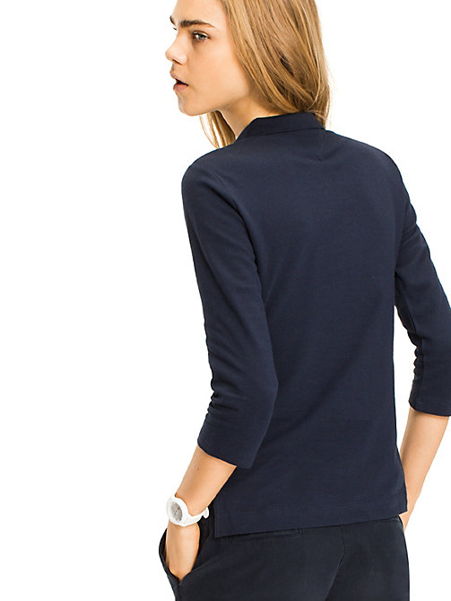 TOMMY HILFIGER Long Sleeved Polo Shirt - NAVY BLAZER - TOMMY HILFIGER Basics - detail image 1