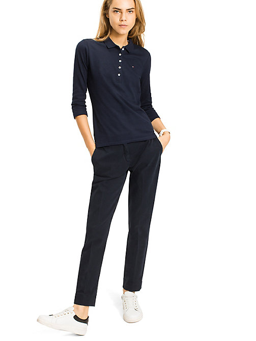 TOMMY HILFIGER Long Sleeved Polo Shirt - NAVY BLAZER - TOMMY HILFIGER Basics - main image