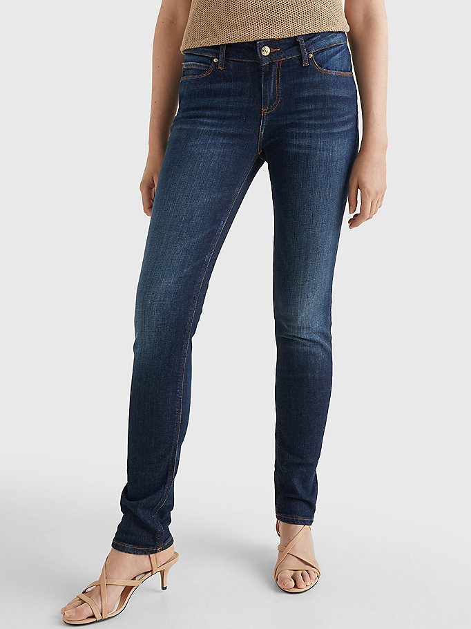 denim milan heritage slim fit faded jeans for women tommy hilfiger