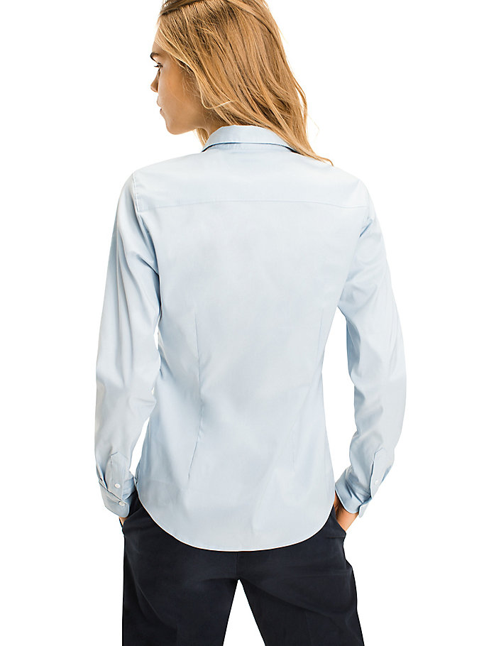 TOMMY HILFIGER Stretch Cotton Shirt - CLASSIC WHITE - TOMMY HILFIGER Women - detail image 1