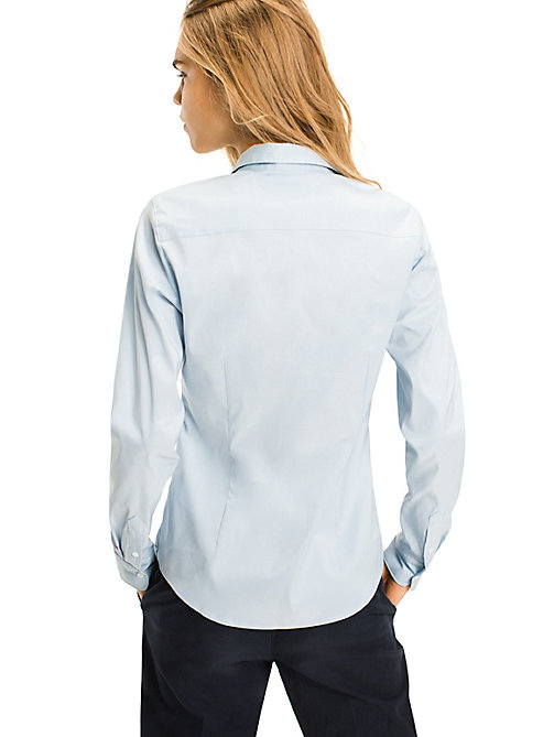 TOMMY HILFIGER Stretch Cotton Shirt - SHIRT BLUE - TOMMY HILFIGER Basics - detail image 1