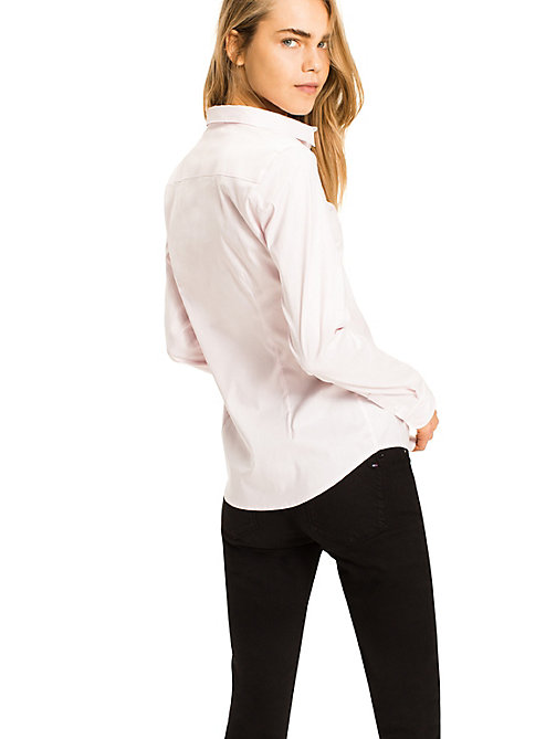 TOMMY HILFIGER Stretch Cotton Shirt - BALLERINA - TOMMY HILFIGER Shirts - detail image 1