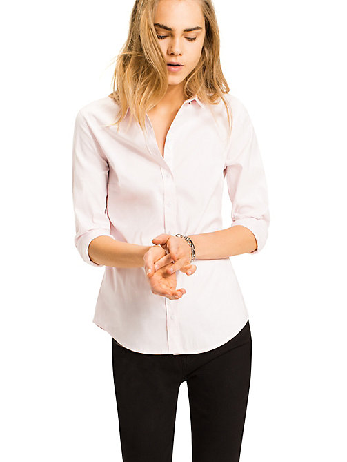 TOMMY HILFIGER Stretch Cotton Shirt - BALLERINA -  Basics - main image