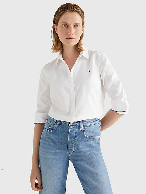 TOMMY HILFIGER Heritage Regular Fit Shirt - CLASSIC WHITE - TOMMY HILFIGER Shirts - main image
