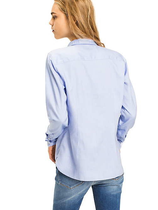TOMMY HILFIGER Pure Cotton Shirt - SHIRT BLUE - TOMMY HILFIGER Shirts - detail image 1
