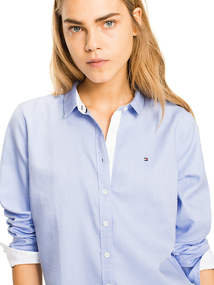 TOMMY HILFIGER Pure Cotton Shirt - CLASSIC WHITE - TOMMY HILFIGER Women - detail image 2