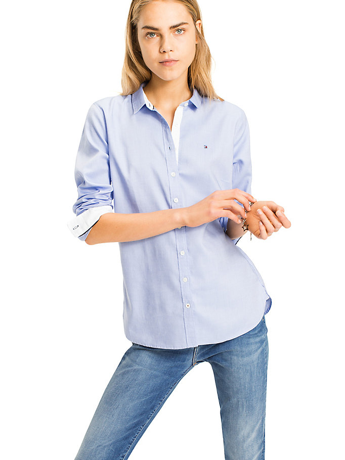 TOMMY HILFIGER Pure Cotton Shirt - CLASSIC WHITE - TOMMY HILFIGER Women - main image
