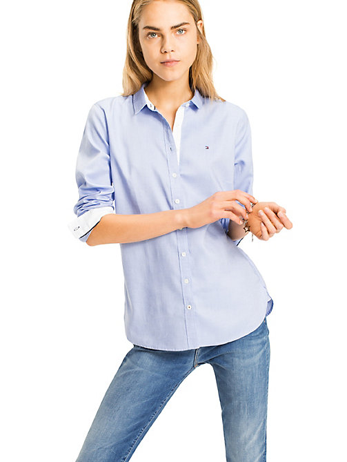 TOMMY HILFIGER Pure Cotton Shirt - SHIRT BLUE - TOMMY HILFIGER Shirts - main image